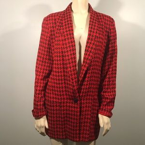Vintage Black & Red Blazer